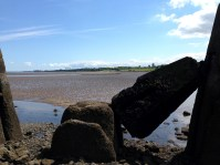 Fallen Pillar on Way to Cramond Island