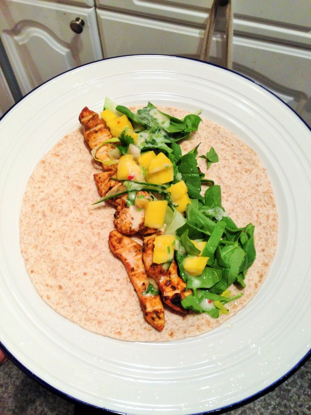 Chicken Tikka Taco in a Chapatti