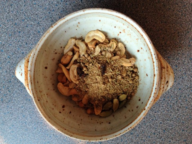 Put ingredients in a small bowl and cover with just boiled water
