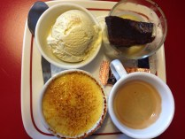 Trio of Puddings and Coffee