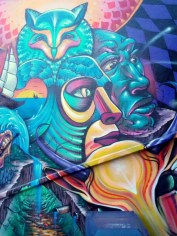 detail of mural on Bathurst St, north of College