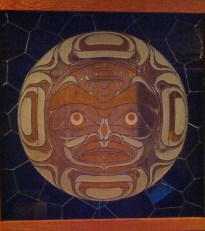 Gorgeous stained glass in: First Peoples of the Northwest Coast