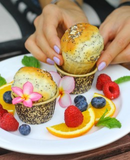 Gliten and Dairy Free Muffins at Grand Hyatt Erawan. A Gluten Free Luxury Hotel in Bangkok copy