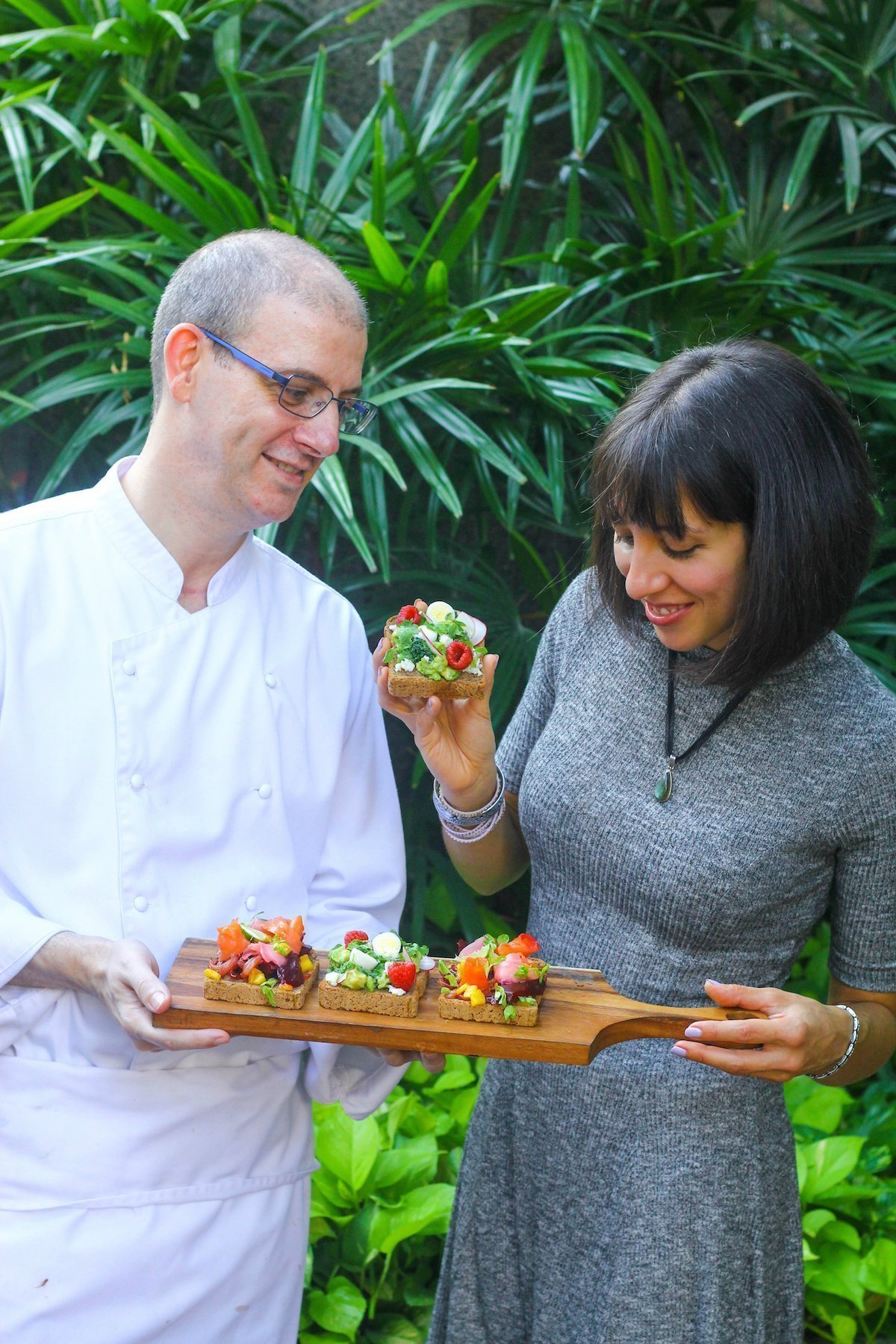Ambra Torelli and Chef Rolando Manesco