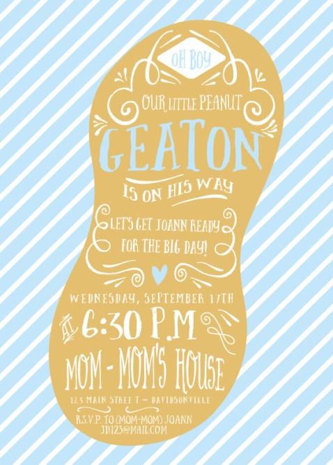 little peanut baby shower invite from little bit heart