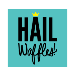 little bit heart | branding design, logo and website design - baltimore food truck, waffles - hail waffles!