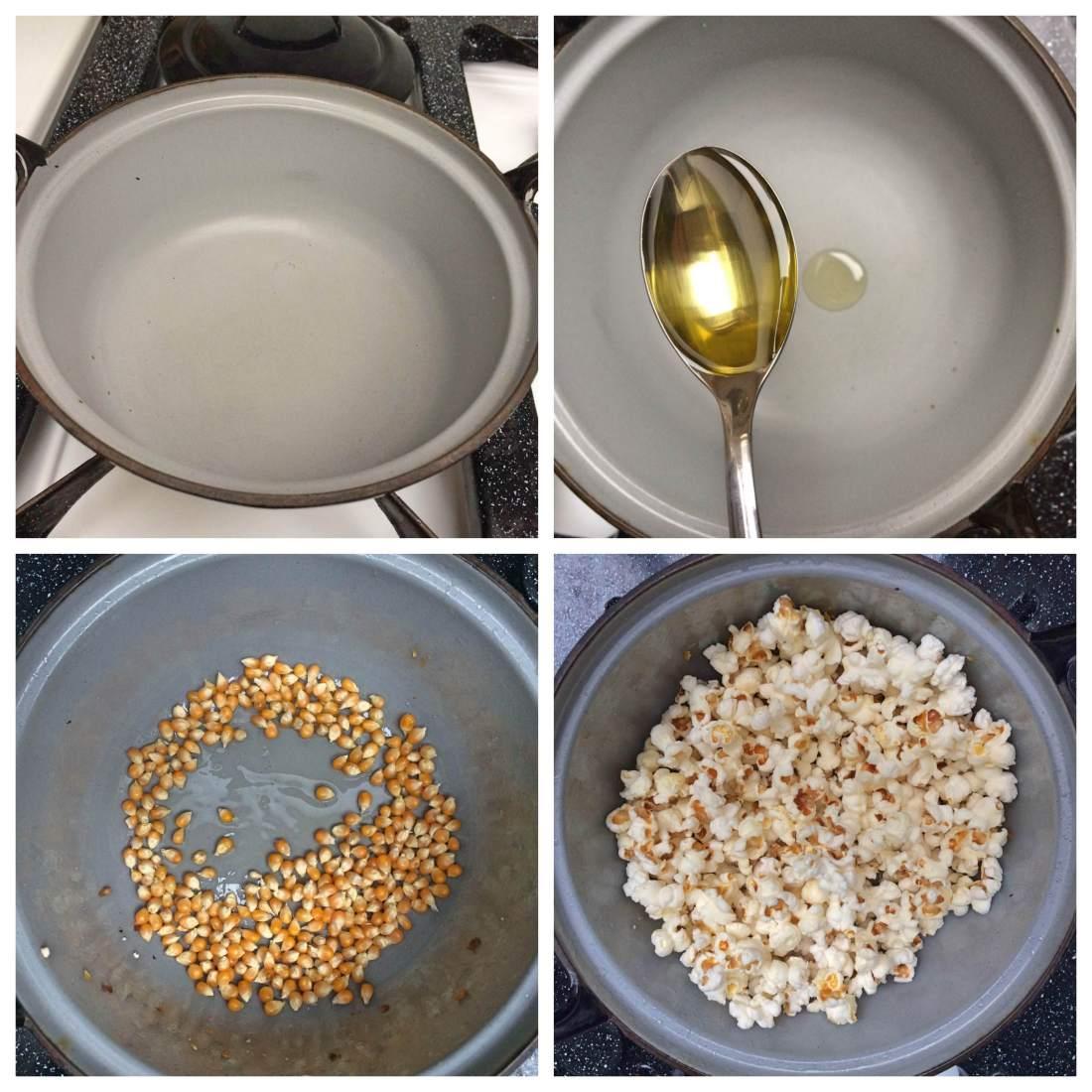 bereiding popcorn