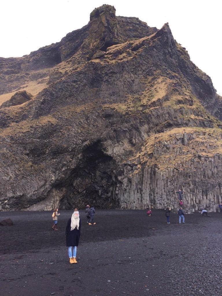 Klif zwarte stranden Vik