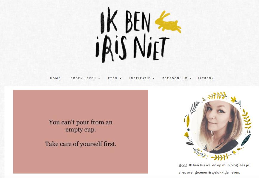 Groene blogs ik ben iris niet