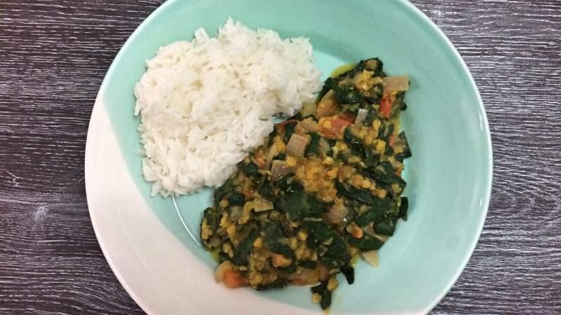 Recept Rode Linzen Spinazie Curry Dal Palak Little Bit