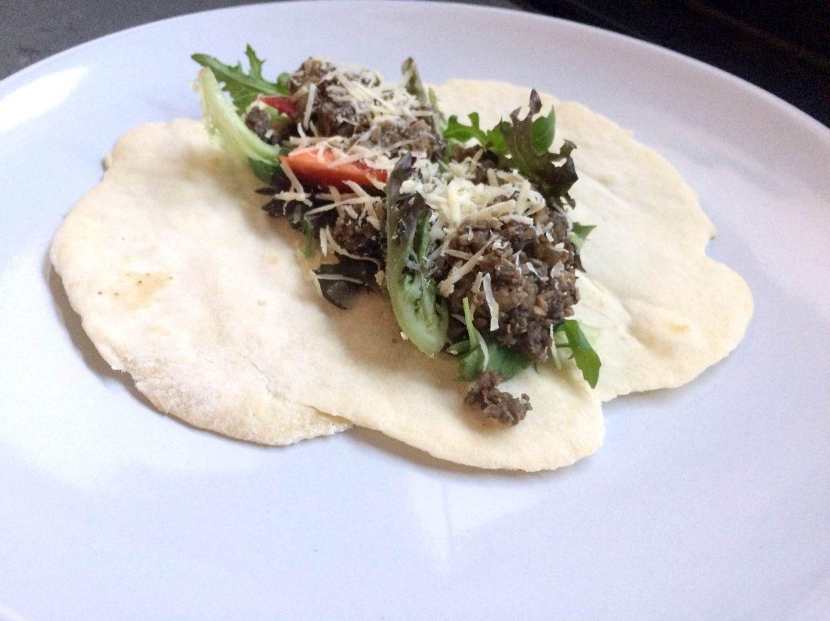 wraps met champignon gehakt