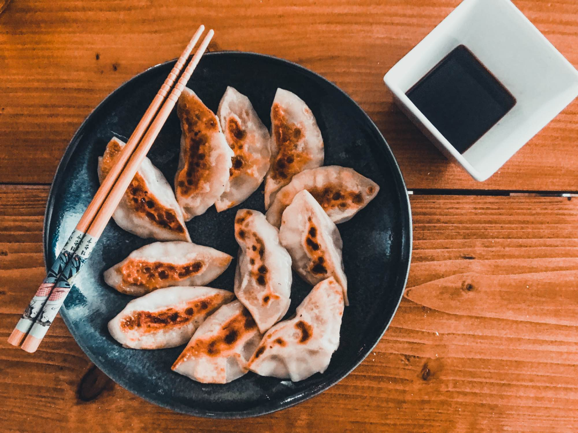 Vegetarische Japanse Gyoza