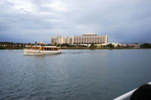 Disney's Contemporary Resort over looking Bay Lake