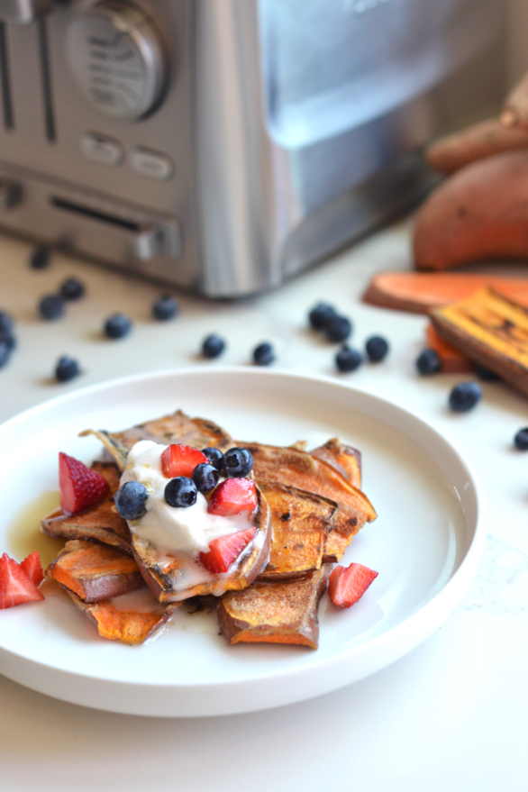 Sweet Potato Toast French Toast - a simple, tasty and Paleo friendly breakfast or snack!