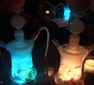 Glowing hookahs... Need I say more?