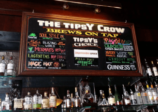 Brews on tap at The Tipsy Crow