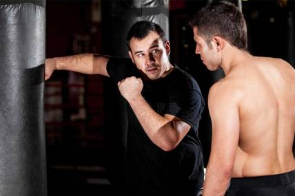 Boxer-working-with-coach