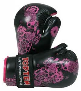 flower boxing gloves