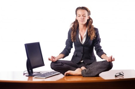 meditating-at-desk