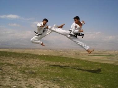 split kick