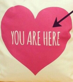 you are here heart