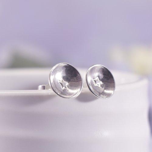Handmade Sterling Silver Star Stud Earrings