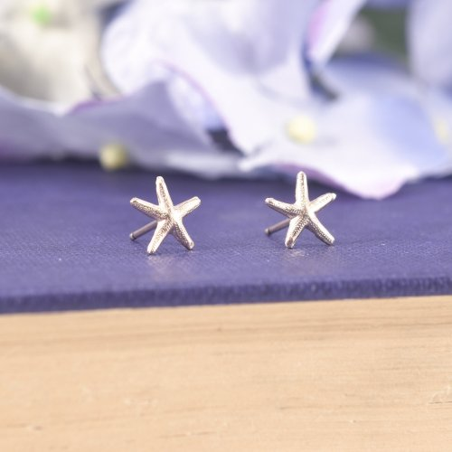 Gold Filled Starfish Stud Earrings