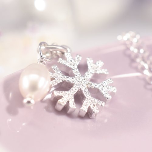 Handmade Sterling Silver Snowflake Necklace