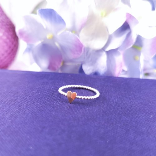 Handmade Sterling Silver Love Heart Ring
