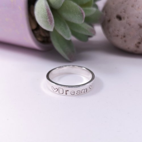 Handmade Sterling Silver Personalised Message Ring