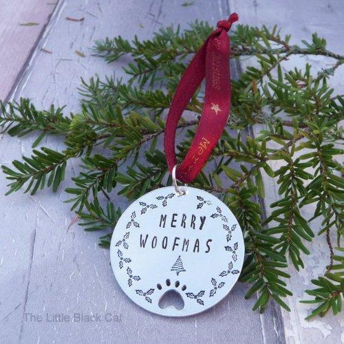 Handmade Personalised Dog Christmas Decoration