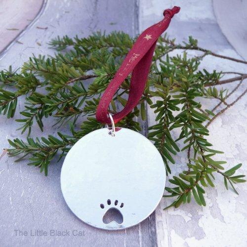 Handmade Personalised Cat Christmas Decoration