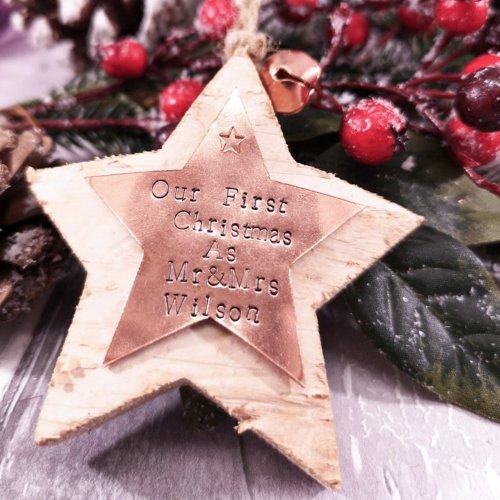 Handmade Personalised Star Christmas Decoration