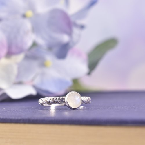 Handmade Sterling Silver Seashore Moonstone Ring