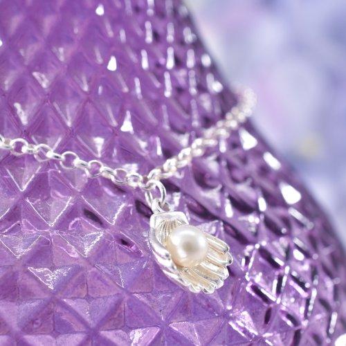 Handmade Sterling Silver Pearl & Shell Bracelet