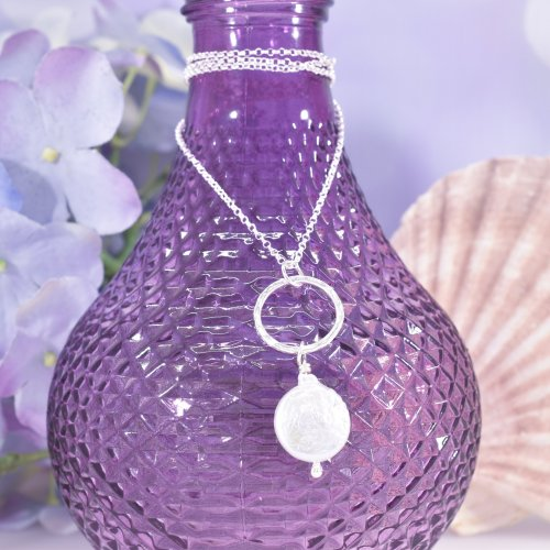 Handmade Sterling Silver & Pearl Serenity Necklace