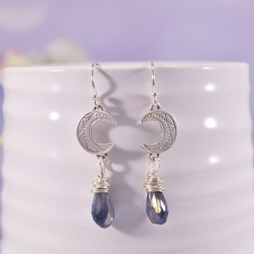 Handmade Sterling Silver Luna Goddess Earrings