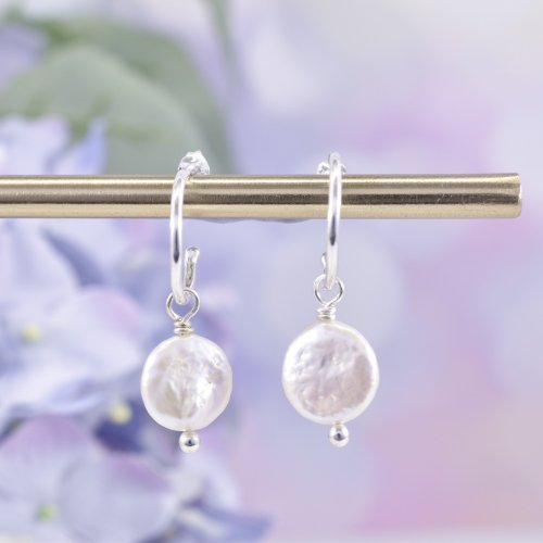 Handmade Sterling Silver Serenity Huggie Hoop Earrings