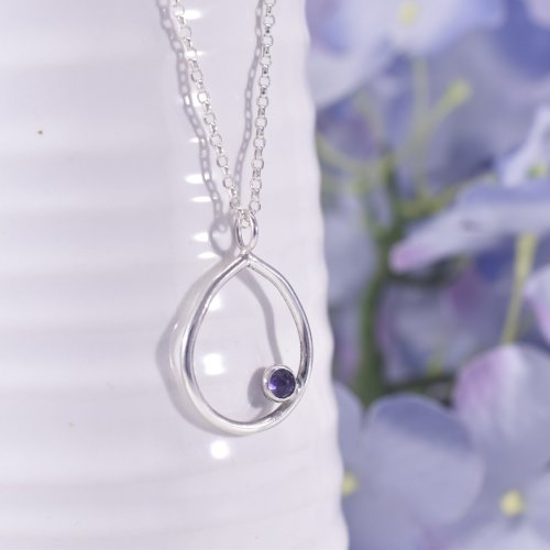 Handmade Sterling Silver Dewdrop Pendant
