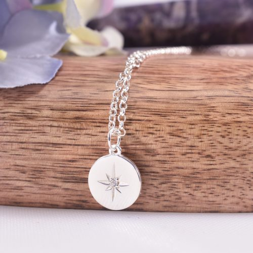 Handmade Sterling Silver Guiding Star Necklace