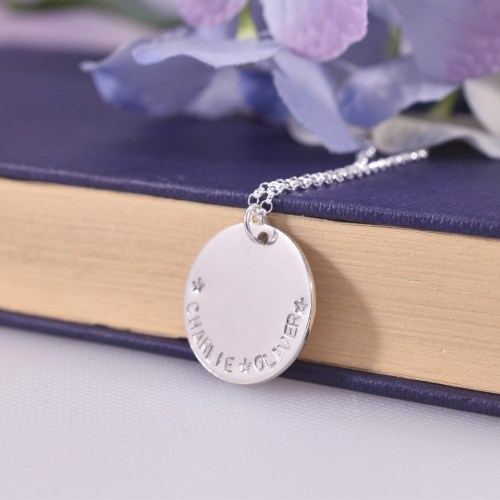 Handmade Sterling Silver Name Necklace