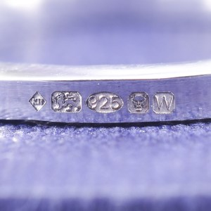 A close up of Kirsty's Hallmark from London Assay Office