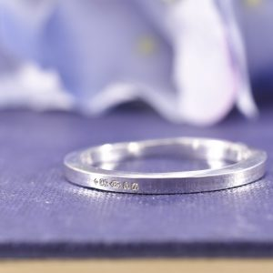 Kirsty's London Assay Office Hallmark on a Silver Ring