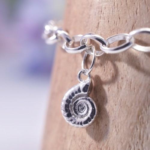 Handmade Sterling Silver Ammonite Bracelet