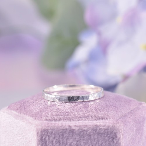 Handmade Sterling Silver Hammered Stacking Ring