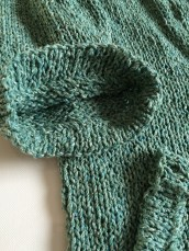 Summer Tweed Sweater in Green Rowan