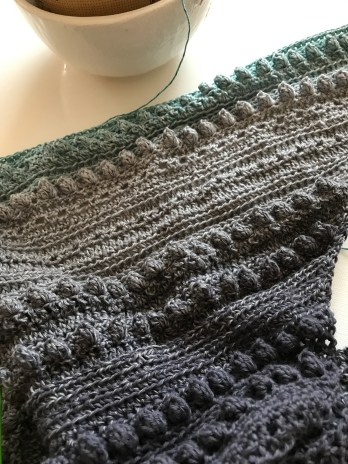 Stormy Day Shawl Progress