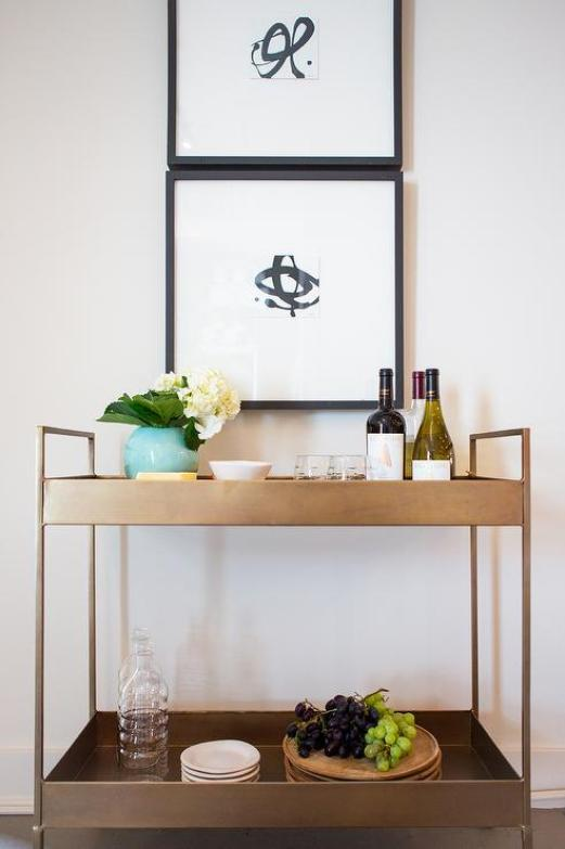 pinterest brass-libations-cart-stacked-black-and-white-art