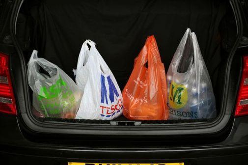 Plastic Bags in SUV