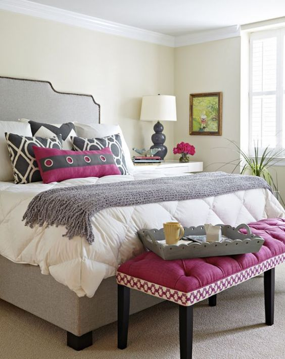 Bed Bench In Fuchsia